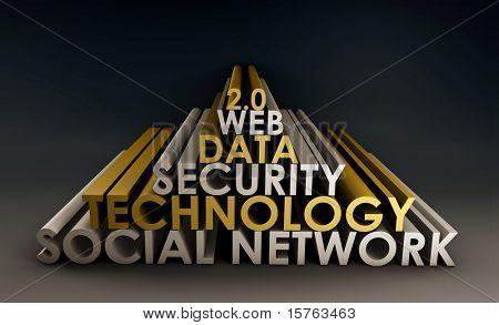 Social Networking Online Website 3d Tech Art