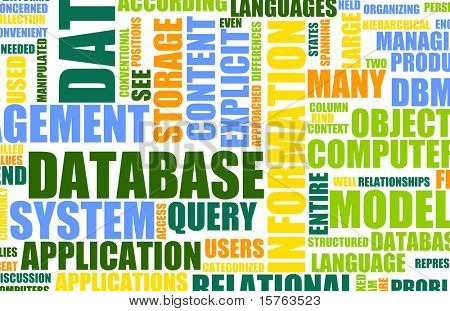 Database Technology Server as a Art Background
