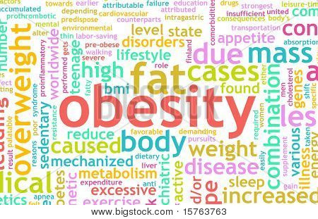 Obesity Concept of Being Overweight and Unhealthy