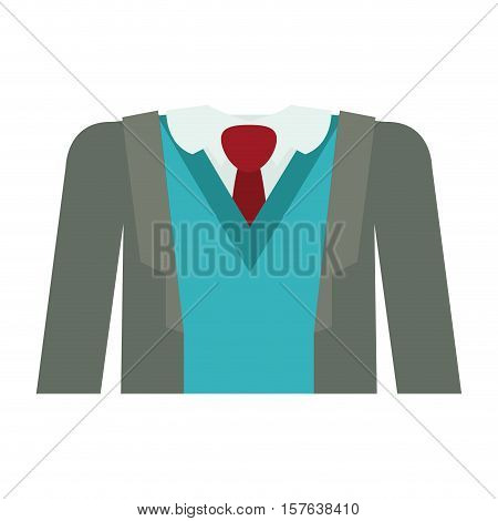 full formal attire with tie vector illustration