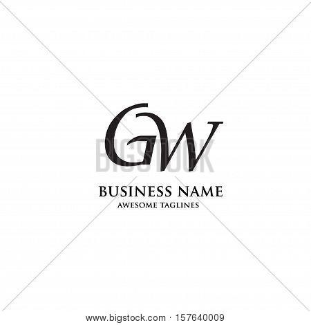 GW letter logo design vector illustration template, G letter logo vector, letter g and w  logo vector, creative Letter GW letter logo