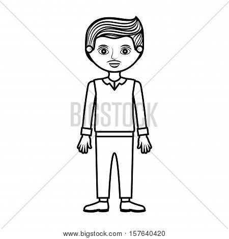 guy silhouette with formal suit and pants vector illustration
