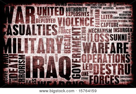 Iraq War as a Grunge Abstract Background