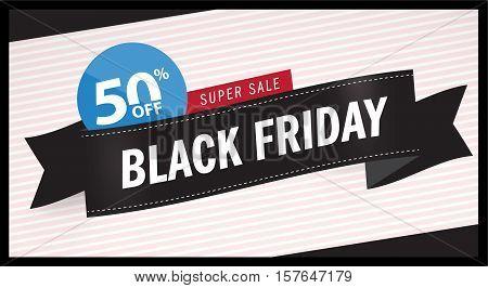 Sale, Black Friday Sales, Special Offer - Black Friday banner. Icon Design Template Vector illustration