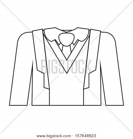 full formal attire with tie vector illustration