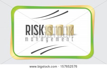 Text box for fill your text and risk management icon