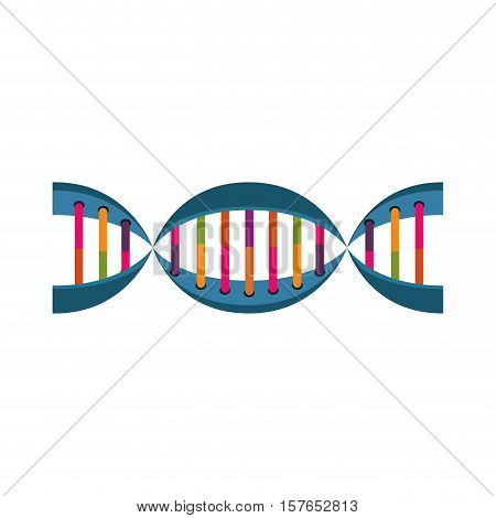 molecule of DNA with information genetic vector illustration