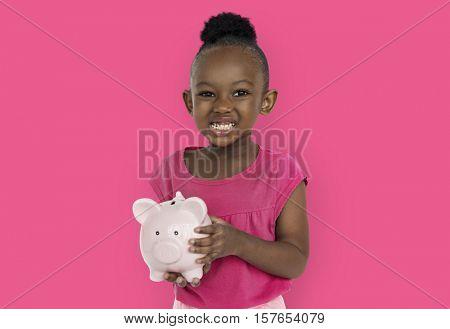 Little Girl Peggy Bank Studio Portrait