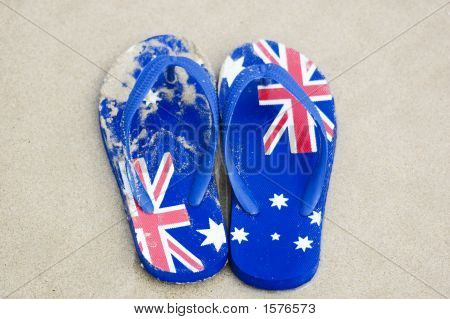 Aussie chanclas