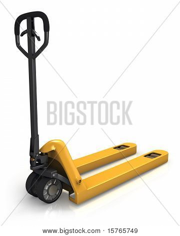 Pallet Truck In Perspective, Rear View