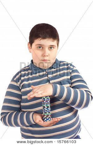 Boy With Poker Chips