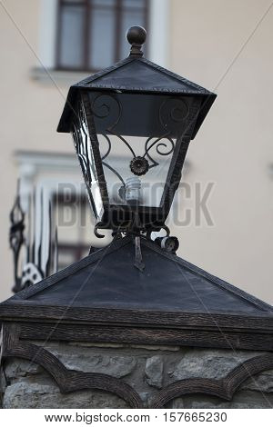 lantern on a stone pillar art, attraction, battens