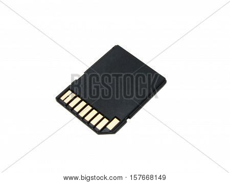 Sd Memory Card Isolate On A White