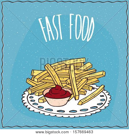French Fries Or Finger Chips With Flavoring