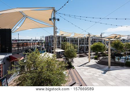 LAS VEGAS - SEPTEMBER 27, 2016 - Container Park on September 27, 2016 in Las Vegas. Container Park is a sustainable shopping attraction in downtown Las Vegas and opened in November 2013