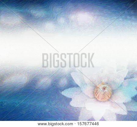White lotus   3D Rendered