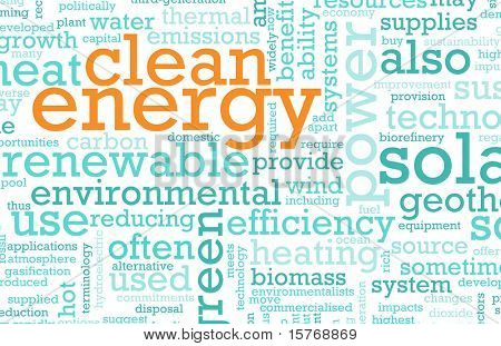 Clean Energy Concept Education as a Art Abstract