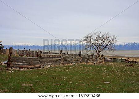 Fielding Garr Ranch on Antelope Island in the Salt Lake