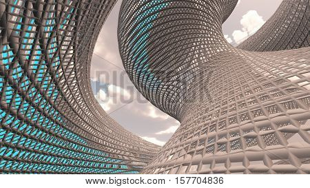 Contemporary Architecture 3d Render