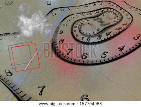 Time Abstract 3d Render