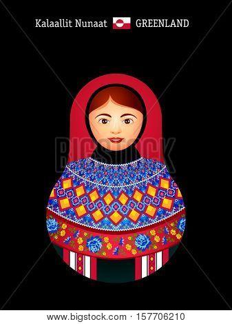 Matryoshkas of the World: Greenland inuit girl