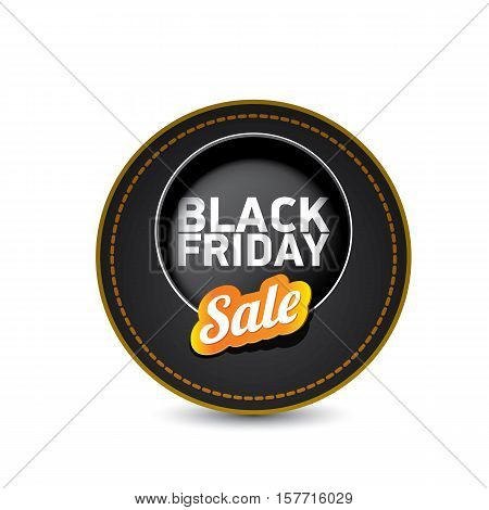 vector Black Friday sales tag or label . Black Friday sale poster or background
