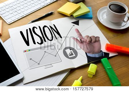 VISION Increase Quality Values mission vision beauty, black, building, business, businessman, city,