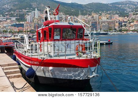 Boat Of The Office Of Naval Affairs In The Port Of Monaco