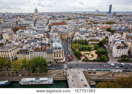 Aerial View Over Paris, France