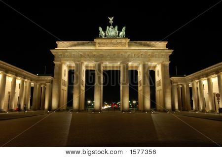 Brandenburger Gate In Berlin At Night