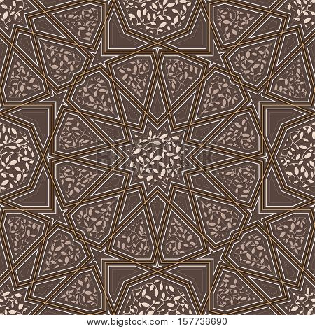 Classic islamic seamless pattern. Vector illustration. muslim
