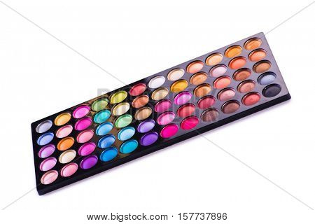 Artist palette isolated on white