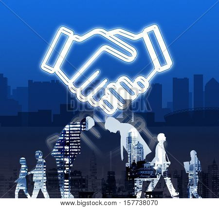 Deal Business Work Cooperation Organization Concept