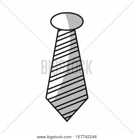 Necktie icon. Hipster style vintage retro fashion and culture theme. Isolated design. Vector illustration