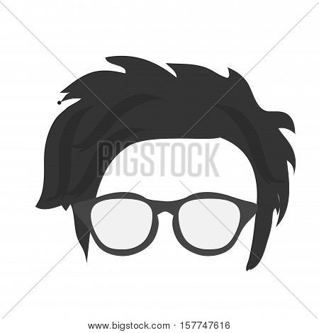 Hear and glasses icon. Hipster style vintage retro fashion and culture theme. Isolated design. Vector illustration