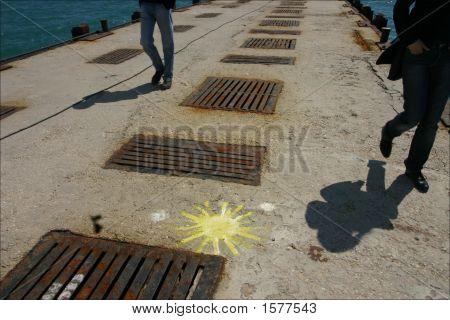 Empty Pier At The Black Sea