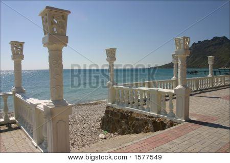 Seashore In Resort Town