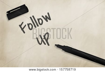 Follow Up Review Inspection Examination Evaluation Audit Cocept