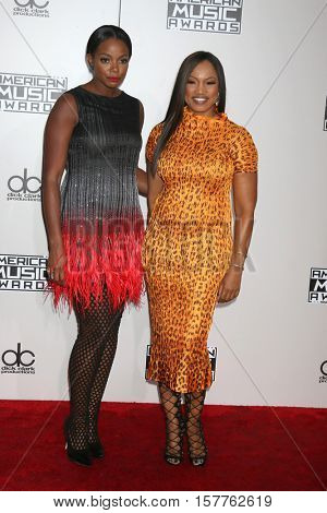 LOS ANGELES - NOV 20:  Tai Beauchamp, Garcelle Beauvais at the 2016 American Music Awards at Microsoft Theater on November 20, 2016 in Los Angeles, CA
