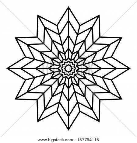 Simple Mandala Flower Design Vector & Photo | Bigstock