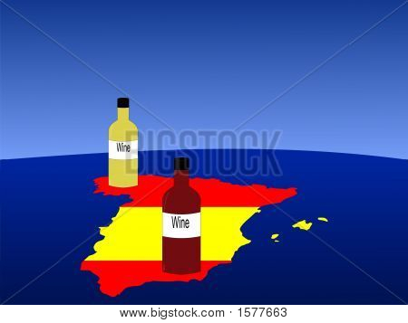 Spanish Wine With Map