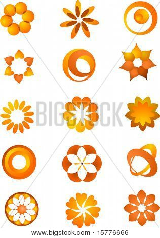 vector shapes and elements, on the withe background