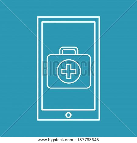 healthy technology with first aid box vector illustration eps 10