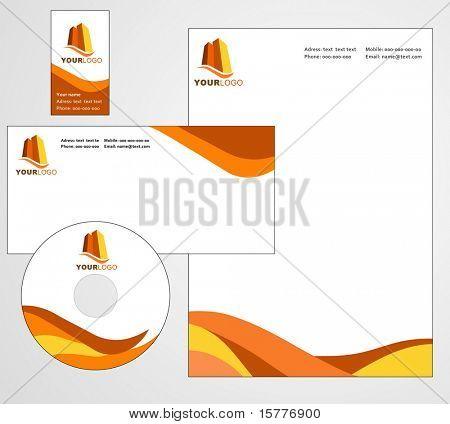 Briefkopf Vorlagendesign - Vektordatei