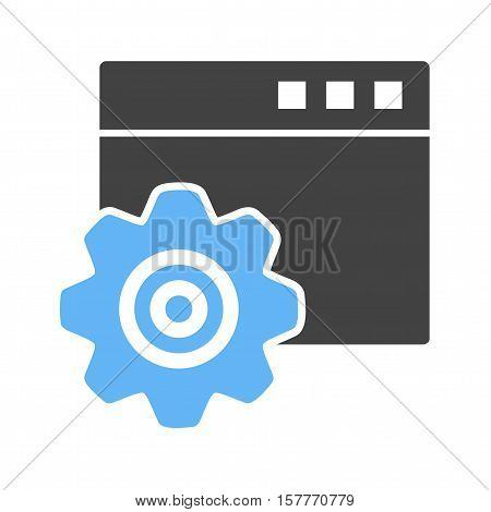 Page, website, browser icon vector image. Can also be used for software development. Suitable for mobile apps, web apps and print media.
