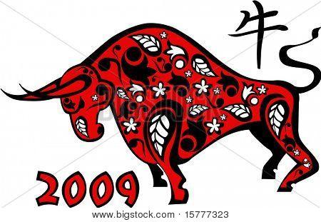 2009 year, Red ox  - Chinese horoscope