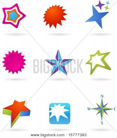 collection of star icons
