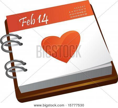 calendario - día de San Valentín