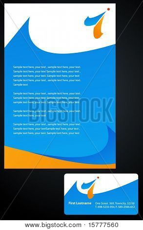 Template of folder / brochure and business card - 5.  To see similar, please visit MY GALERY