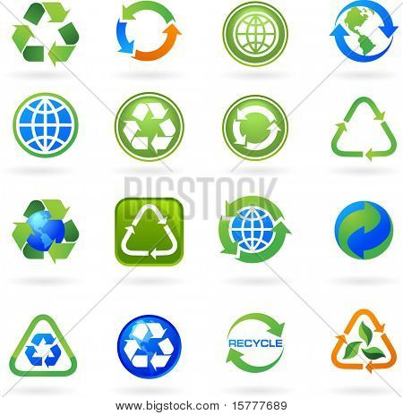 Collection of recycle icons